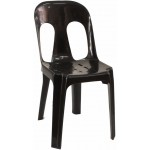 Pipee Slotted Chair, Black